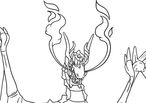 Knight Challenging Dragon