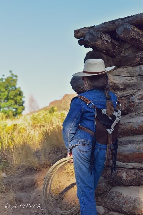 Cowboy Take Me Away Chicks Backpack