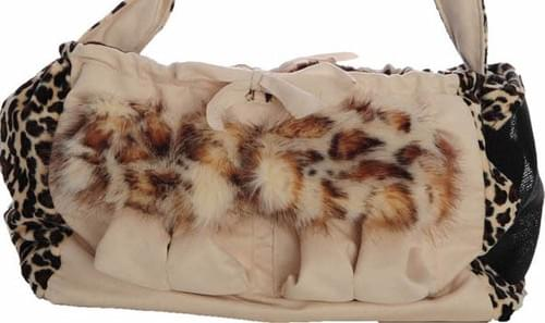 ONE LUCKY DOG COUTURE CHEETAH N' CREAM BAG