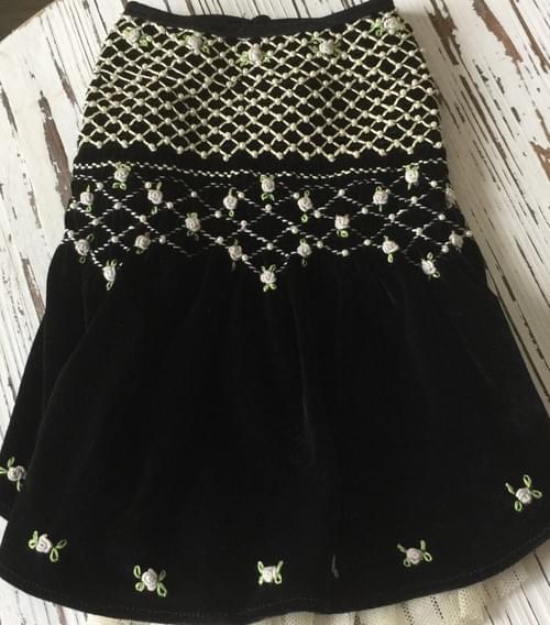OSCAR NEWMAN BLACK TIE AFFAIR VELVET DRESS  M