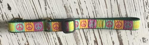 UP COUNTRY PEACE SIGN MARTINGALE COLLAR M