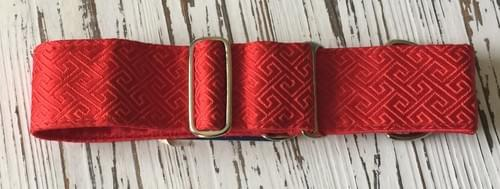 2 HOUNDS DESIGN MAZE RED MARTINGALE COLLAR  M