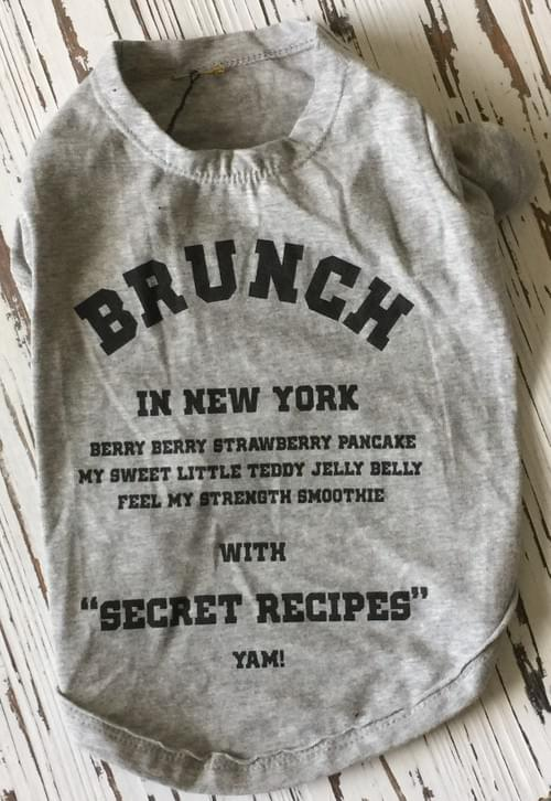 LOUIS DOG BRUNCH TEE XXL