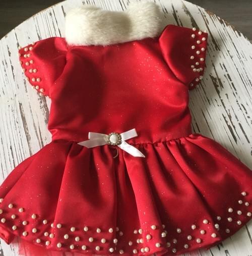 TONI MARI RED CHRISTMAS DRESS M
