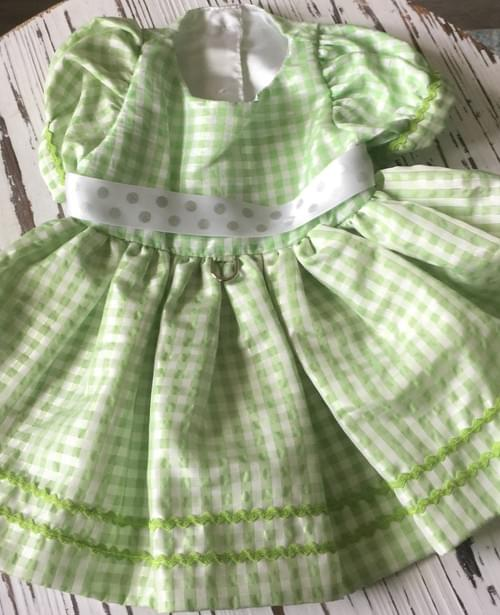 TONI MARI GREEN STRIPED DRESS M