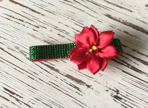 Christmas Flower Bling Collar