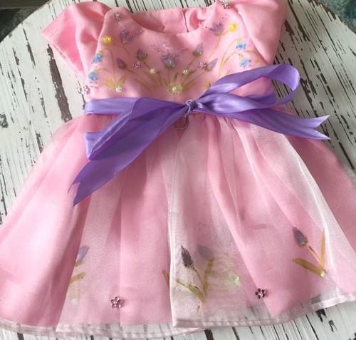 TONI MARI HAND PAINTED DRESS PINK  M