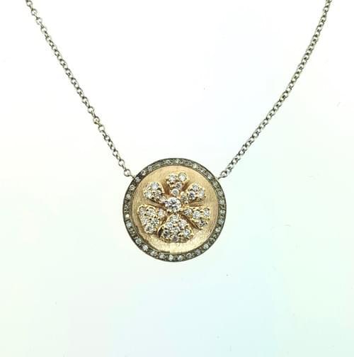Diamond Flower on Plate