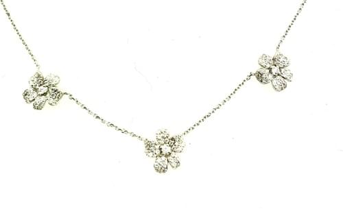 Custom Three Small Flower Necklace