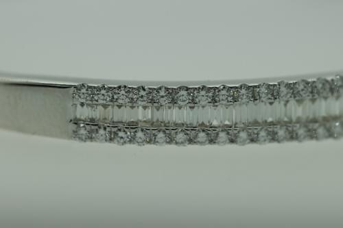 Baguette Diamond Bangle