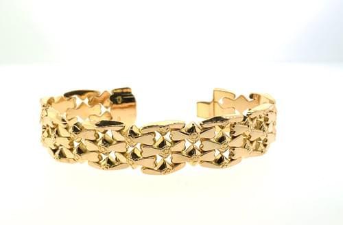 Wide Rose Gold Bracelet
