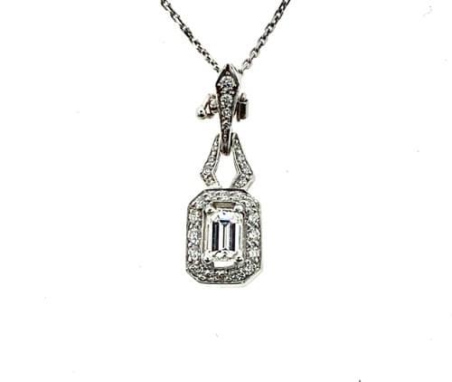 Emerald Cut Pendant Necklace