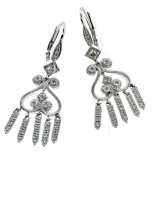 Dangling Diamond Earrings