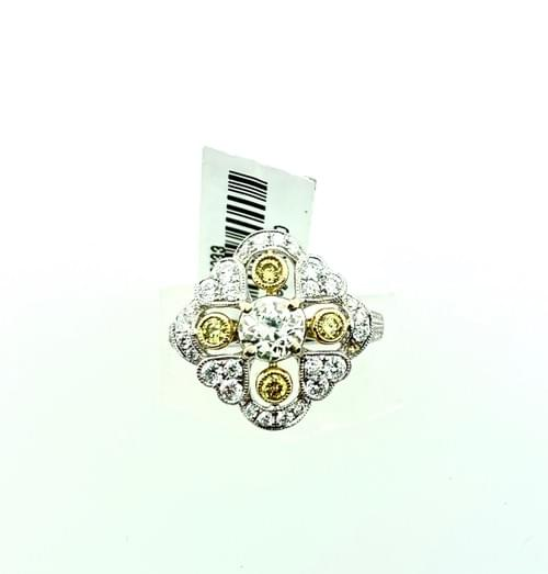 Yellow Diamond Vintage Ring