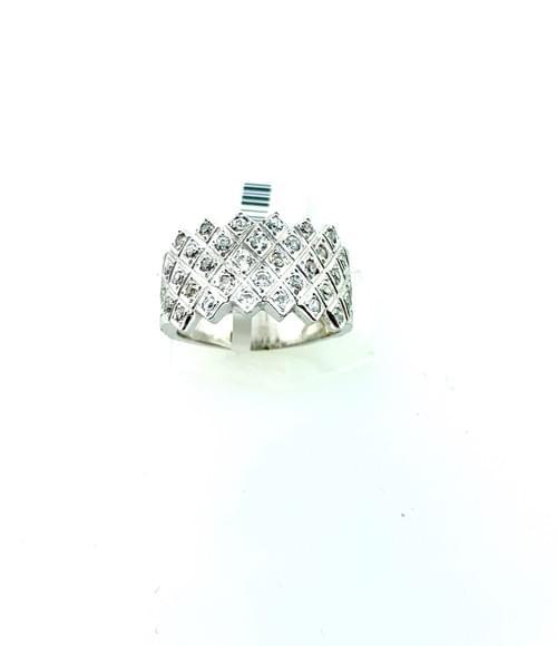 Thick Diamond Ring