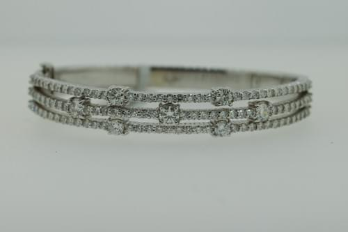 Triple Layer Diamond Bangle