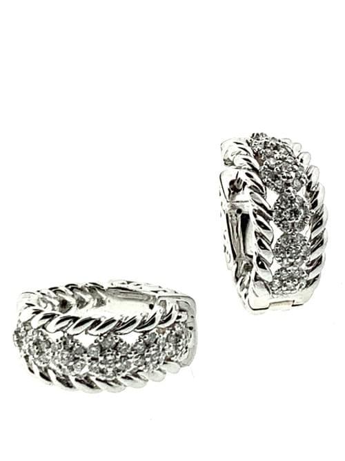 Diamond Huggie Earring