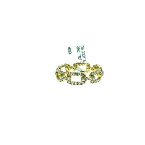 Diamond Chain-Style Link Ring