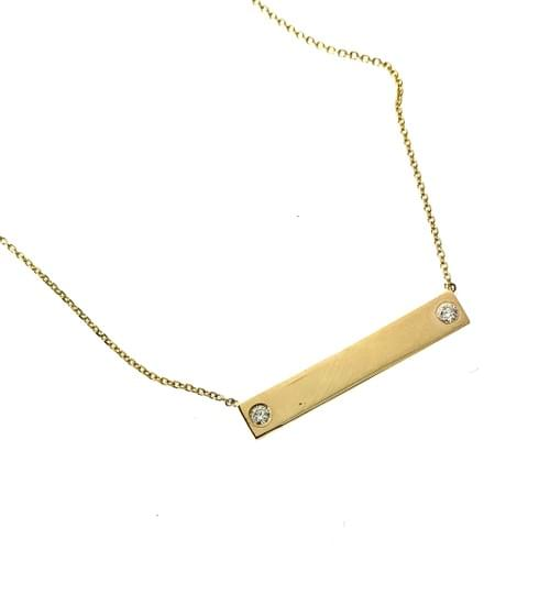 Blank Bar Necklace with Diamonds