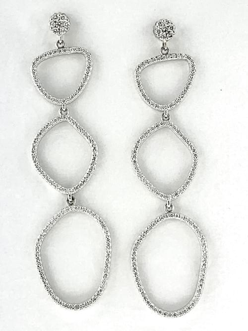 Hanging N.V Diamond Earrings