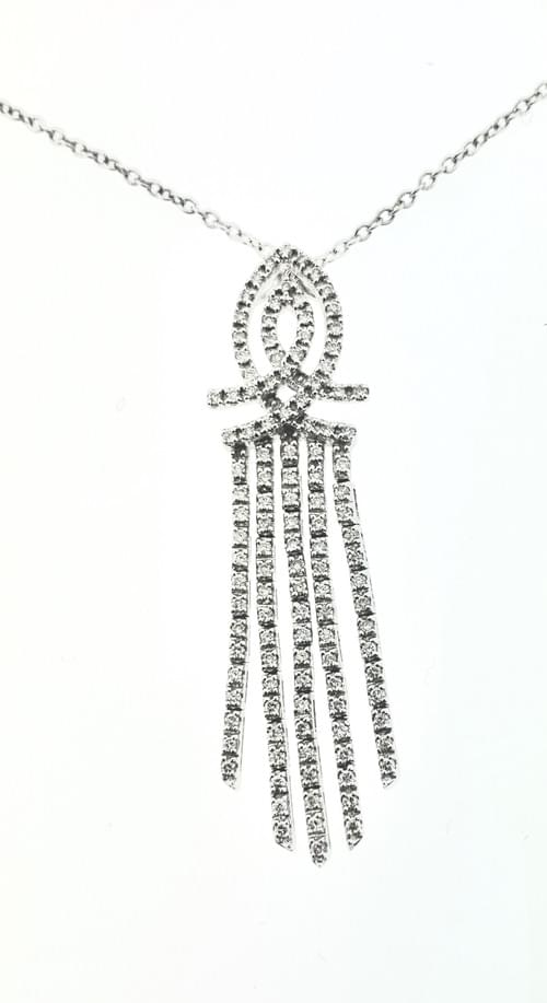 Hanging Diamond Necklae