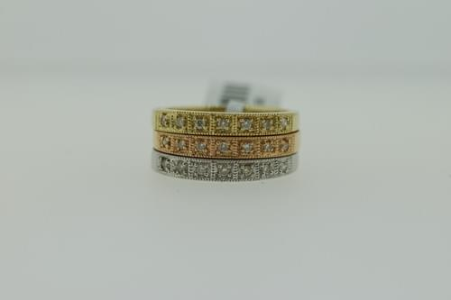 Tri-Color Diamond Ring