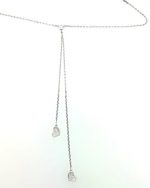 Heart Shaped Lariat Necklace