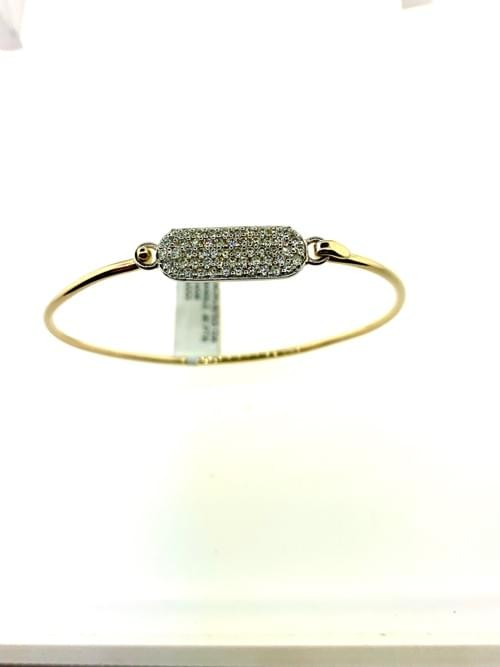 Encrusted Diamond Wire Bangle
