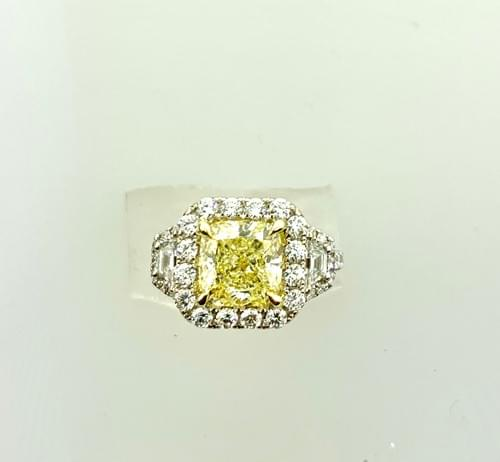GIA Certified Yellow Diamond Ring