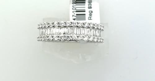 Baguette And Diamond Wedding Band