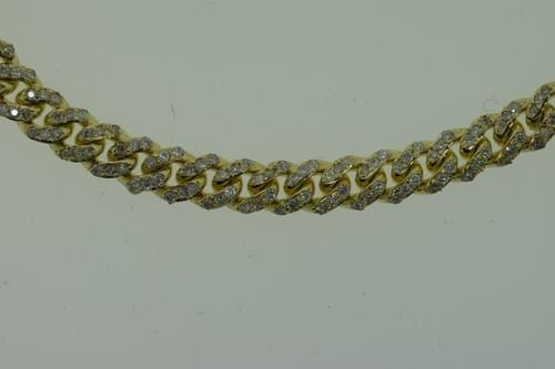 Diamond Encrusted Cuban Link Necklace