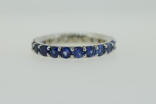 Blue Sapphire Ombre Ring