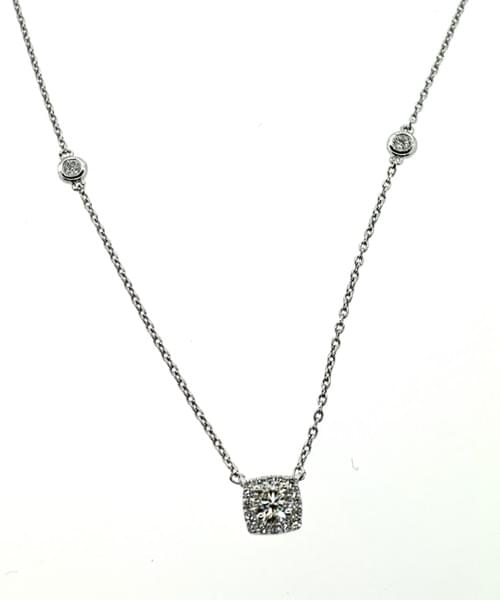 Halo Style Diamond Necklace