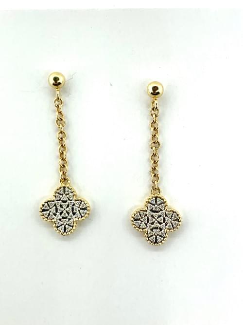 Hanging Clover Earrings