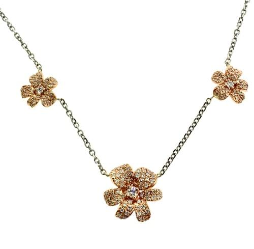 Custom Three Flower necklace