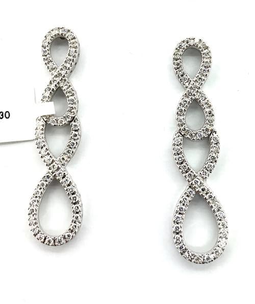 Infinity Style Diamond Earrings