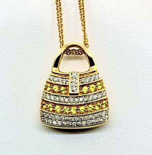 Yellow Diamond Purse