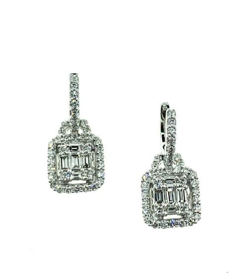 Emerald Cut Style Earrings