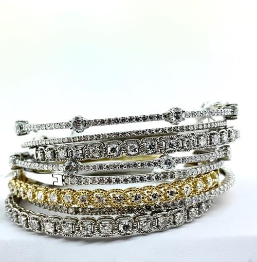 Assorted Diamond Bangle Bracelets - Prices Vary