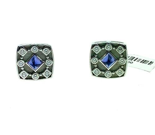 Blue Sapphire & Diamond Earring