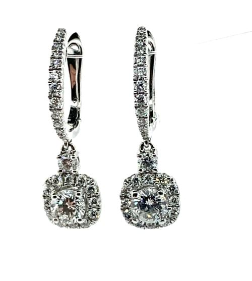 Halo Style Diamond Earrings