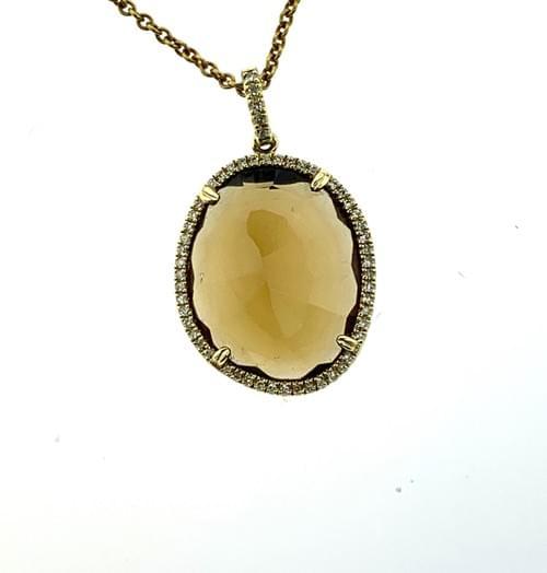 Honey Topaz Diamond Necklace