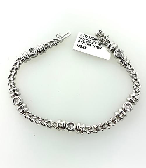 5 Bezel Diamond Bracelet
