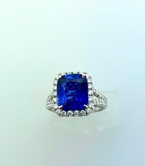 Large Blue Sapphire Ring