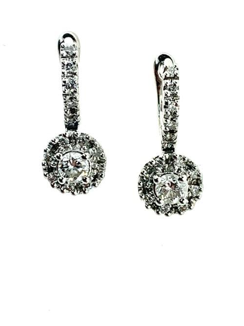 Diamond Hanging Earrings