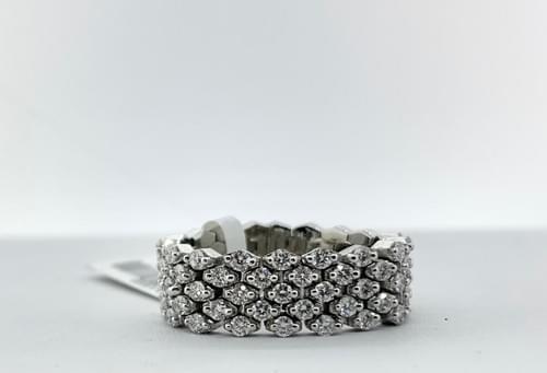 "Diamond ""Mesh"" Flexible Rings"