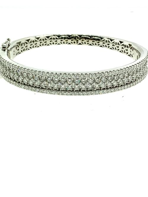 Thick Diamond Bangle