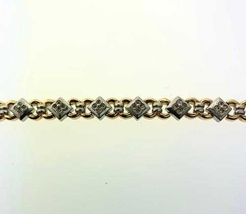 Square Style Gold Bracelet