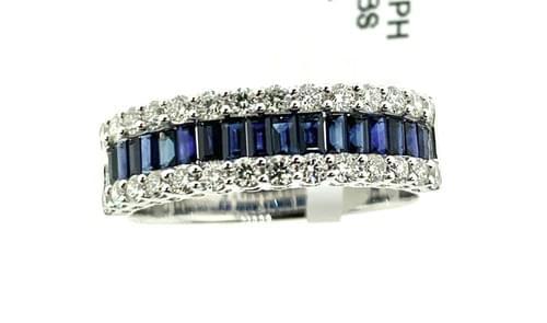Sapphire Baguette Diamond Band