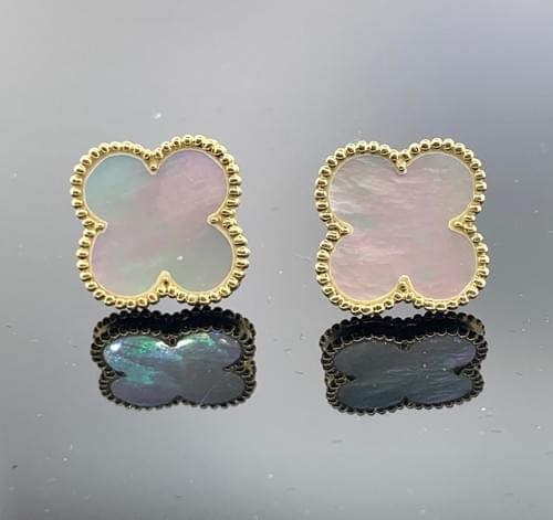 Clover Mother of Pearl Studs